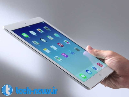 iPad Air being held in one hand