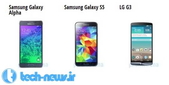 Photo of مقایسه مشخصات Samsung Galaxy Alpha با دو پرچمدار Samsung Galaxy S5 و LG G3