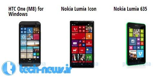 Photo of مقایسه مشخصات (HTC One (M8 ویندوزی با دو تلفن هوشمند Nokia Lumia Icon و Lumia 635