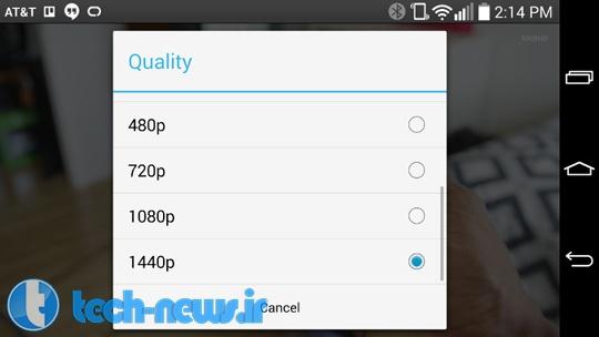 Photo of YouTube در حال حاضر ویدئوهای 1440p را در LG G3 پخش می کند
