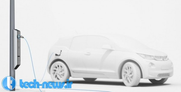Photo of BMW، چراغ های برقی را معرفی کرده است که می تواند خودروهای الکتریکی را شارژ کند