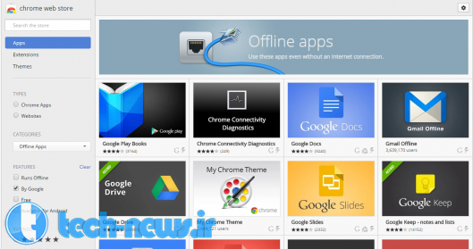 Install apps for use when offline