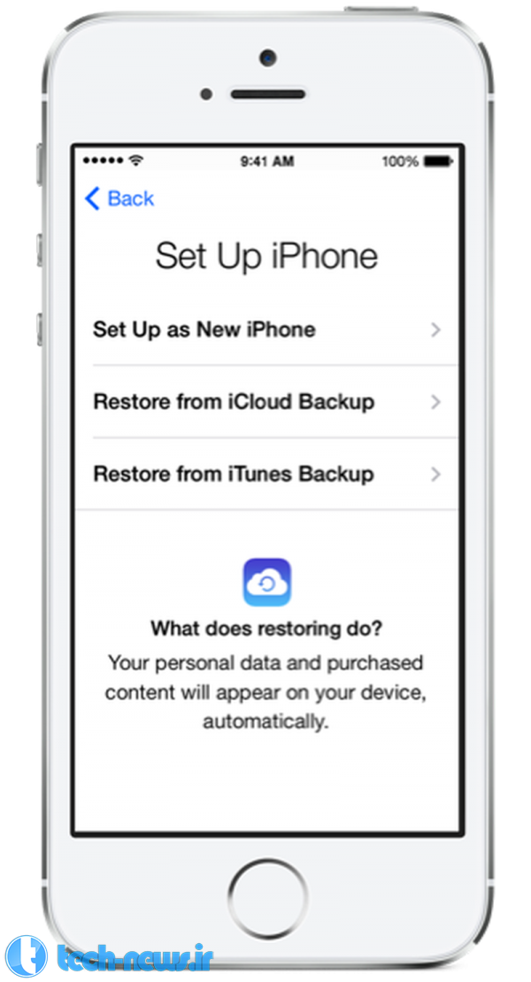 Retrieve your old backup on your new iPhone