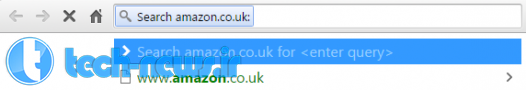 Search specific sites from the Omnibar