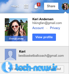 Sign in with multiple profiles