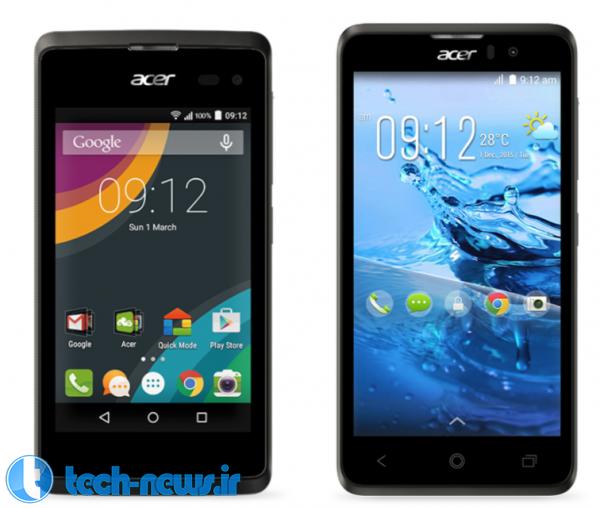 Photo of MWC 2015: رونمایی ایسر از دو گوشی هوشمند جدید Z220 و Z520