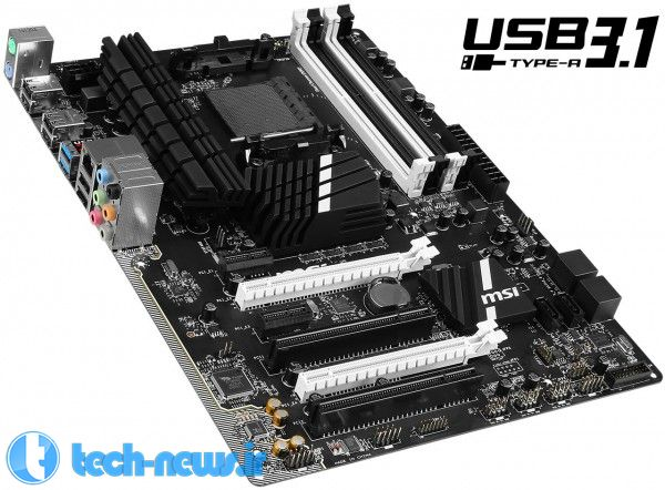 MSI Announces First AMD Motherboard with USB 3.1, the 970A SLI Krait Edition 2