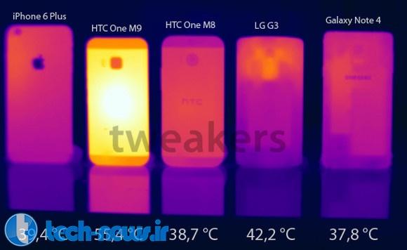 HTC One M9 در جدیدترین بنچمارکها بیش از حد داغ میکند