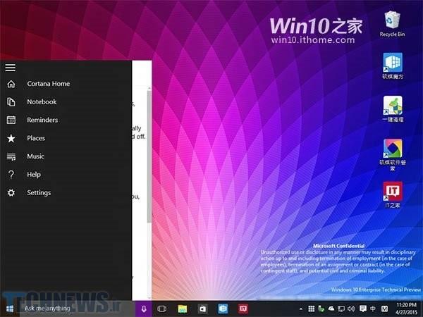 Leaked Windows 10 screenshots reveal transparent Start Menu, new Live Tile animation 3