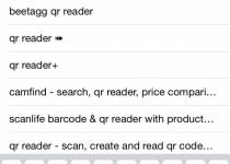 سپس عبارت QR Reader را جستجو کنید