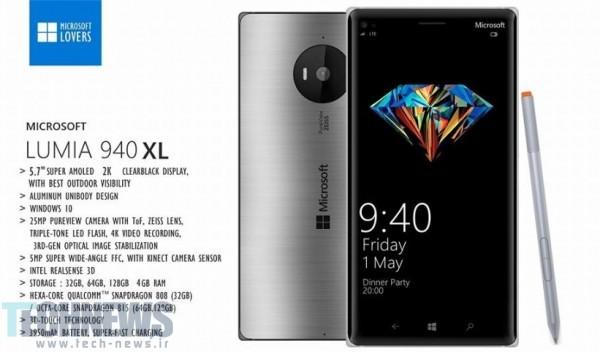 کانسپ گوشیهای Lumia 940 و Lumia 940 XL منتشر شد