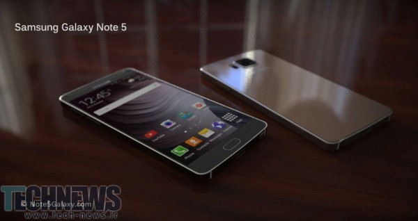 Samsung Galaxy Note 5 renders show 4K display, metal and glass body