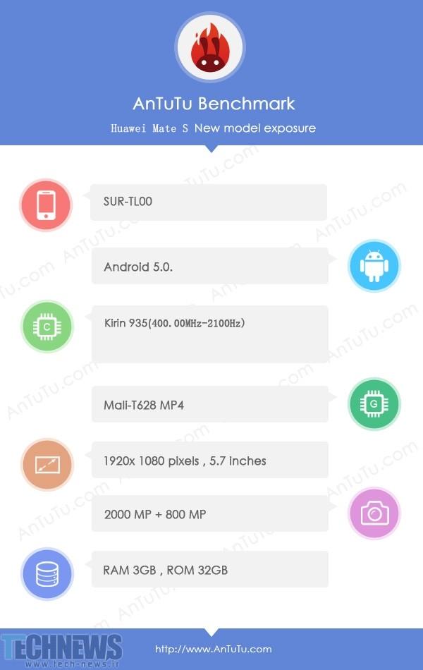 بنچمارک هوآوی میت 7S مشخصات سخت افزاری گوشی را فاش کرده است