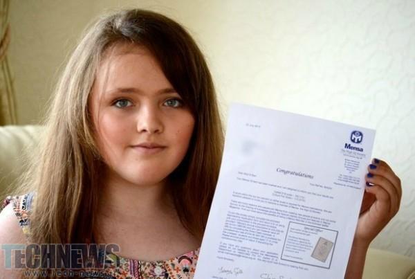 Photo of دختر ۱۲ ساله بریتانیایی بهره هوشی بالاتری از اینشتین و استیفن هاوکینگ دارد