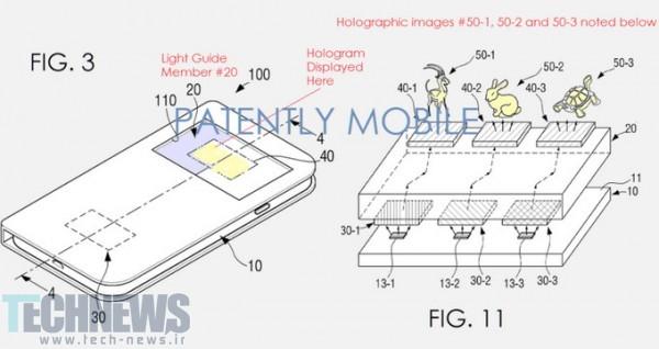 پتنت سامسونگ امکان نمایش تصاویر هولوگرافیک در گوشی هوشمند را فراهم میکند