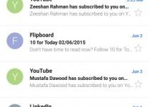 اپلیکیشن ایمیل اندرویدی گوشی زد 3 پلاس سونی