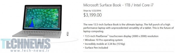 Waiting to order the 1TB model of Microsoft's Surface Book Bring lots of money
