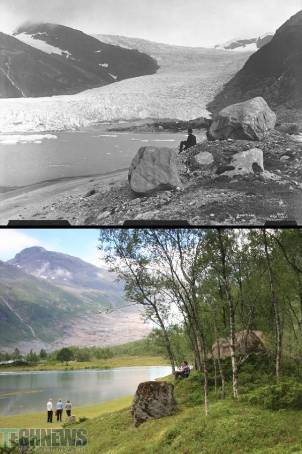1889-2010_Engabreen_ved_Holandsfjorden_Meloey_kommune_Nordland