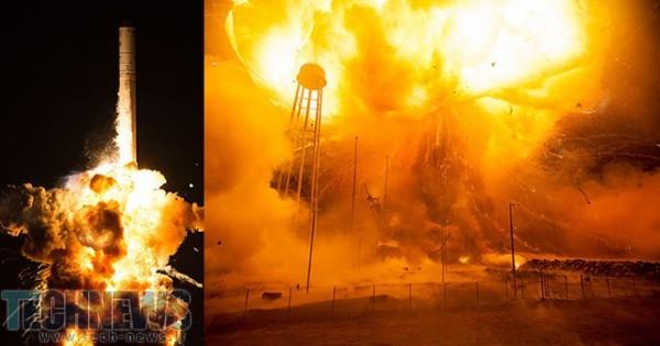 Photo of تصاویر ناسا از زمان پرتاپ و انفجار موشک Antares