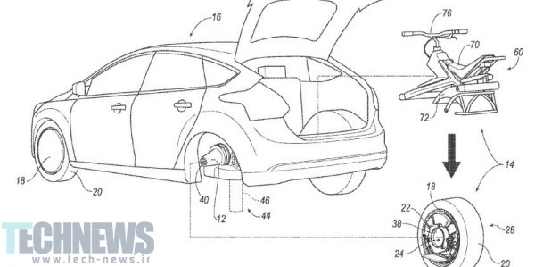 Ford patents electric unicycle that uses your car's tire