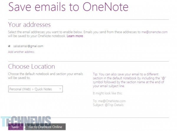 OneNote-Email-Yourself