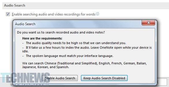 OneNote-Search-Audio