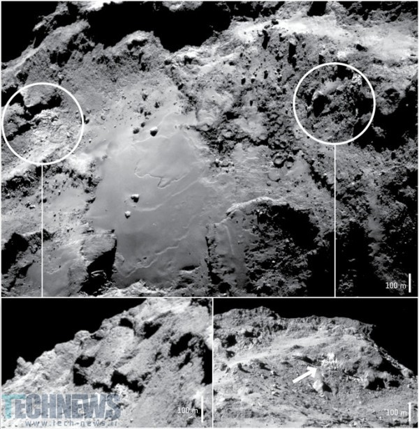 Researchers find water ice on comet 67P's surface 2