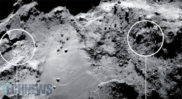 Researchers find water ice on comet 67P's surface