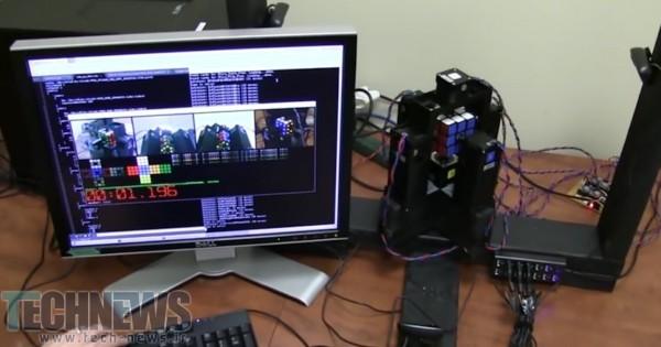 Photo of یک ثانیه، تمام زمان مورد نیاز این ربات برای حل مکعب روبیک است