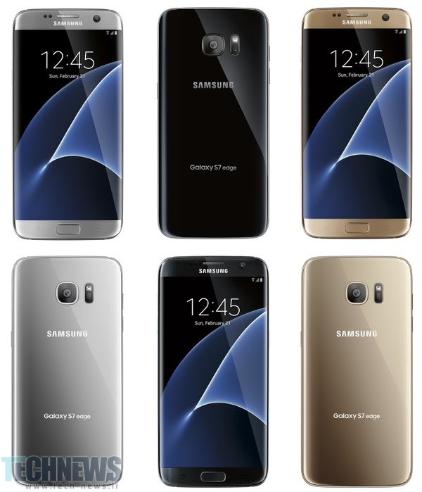 New Galaxy S7 edge render leak reveals three color options