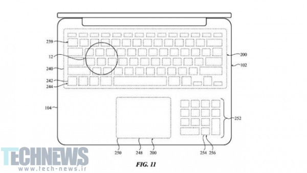 Apple Patents MacBook With Touchscreen Keyboard