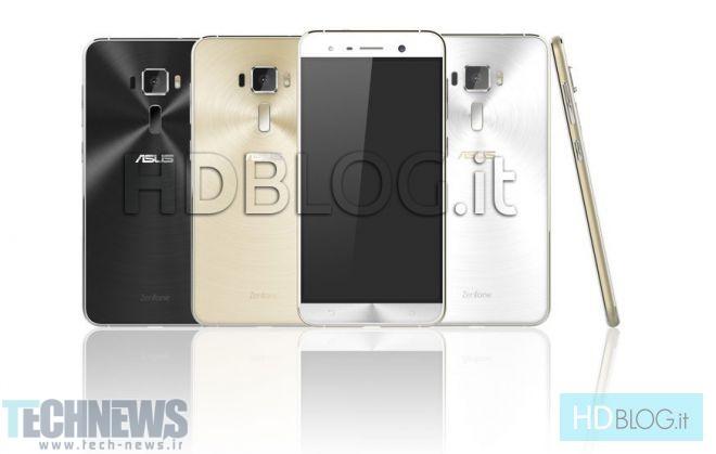 تصاویر رندر غیر رسمی از گوشیهای ایسوس Zenfone 3 و Zenfone 3 Deluxe به بیرون درز کرد