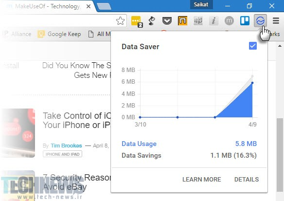 Data-Saver-Chrome-Extension