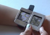 Experimental smartwatch has a movable second screen