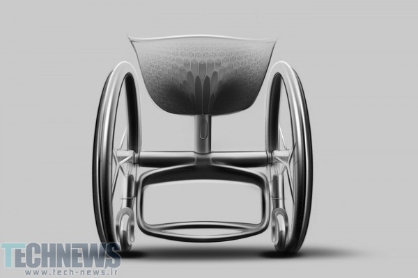 Photo of این ویلچیر ساخته شده توسط پرینتر سهبعدی سواری راحتتری را به همراه دارد