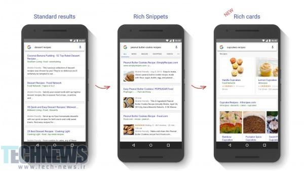 Photo of از این پس نتایج جستجو گوگل در حالت موبایل به شکل کارتی نمایش داده میشوند