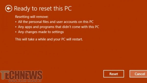Troubleshoot > Reset this PC