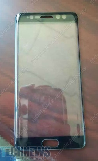 تصویر لو رفته از پنل جلویی گلکسی نوت 7 وجود اسکنر چشم را در این گوشی تأیید کرد