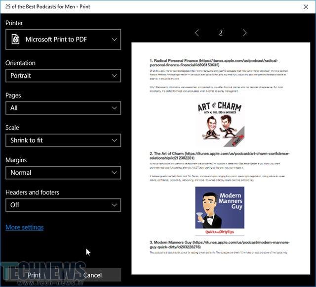نحوه تبدیل صفحات وب به پی دی اف