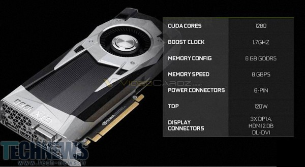 NVIDIA GeForce GTX 1060 Reference Board Design and Clocks Confirmed