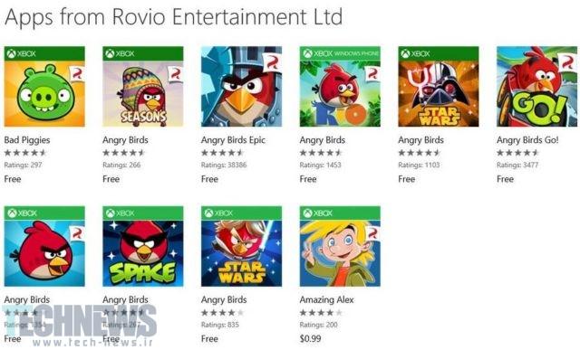 توسعهدهندگان Angry Birds دیگر برای ویندوزفون کار نمیکنند