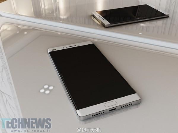 رندرهای گوشی Mi Note 2 شیائومی دوربینی دوگانه و نمایشگر خمیده را نشان میدهند