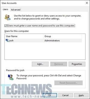 آموزش: حذف کلمه عبور صفحهی ورود در ویندوز 10