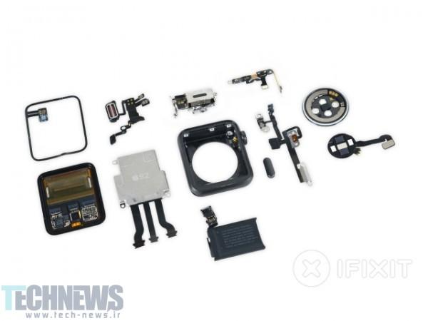 وبسایت iFixit نسل دوم اپل واچ را کالبد شکافی کرد-