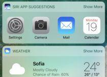 صفحه Today در iOS 10