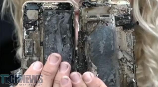 آیفون 7 اپل در درون یک خودرو آتش گرفت!