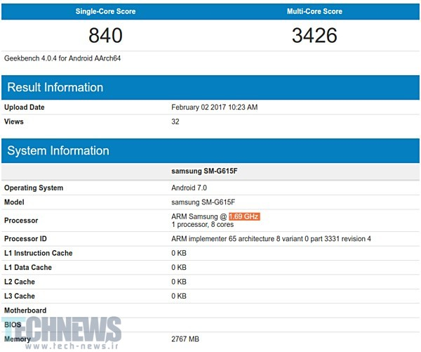 New Samsung phone (SM-G615F) spotted in benchmark listings