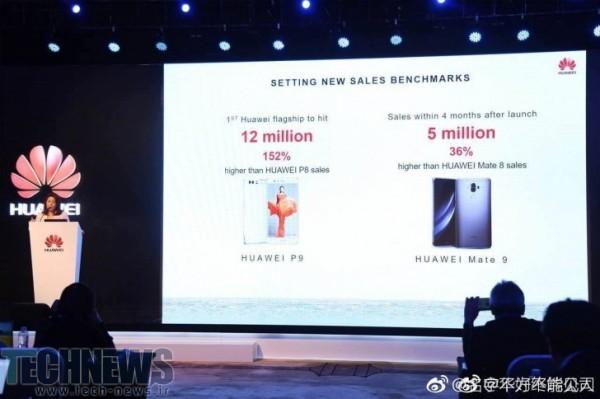 Photo of هواوی در چهار ماهه اول 2017 بیش از 5 میلیون دستگاه گوشی Mate 9 فروخته است