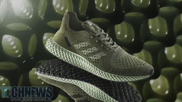 Photo of کفش های چهار بعدی رنگ سبز کربنی شرکت آدیداس