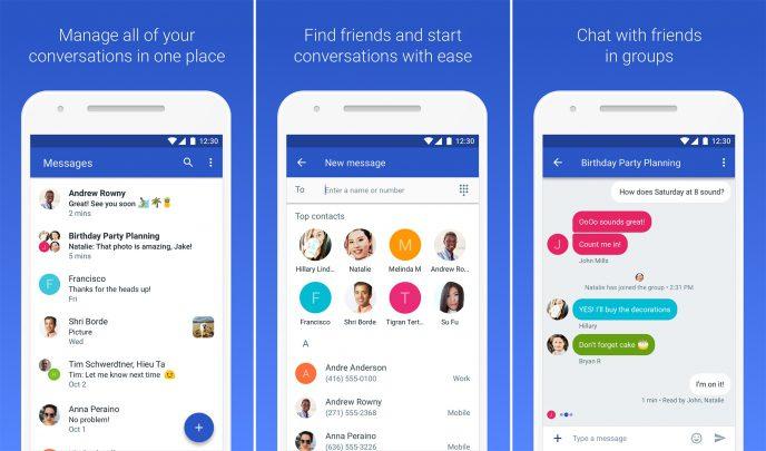 رونمایی آزمایشی از نسخه جدید برنامه پیام های گوگل